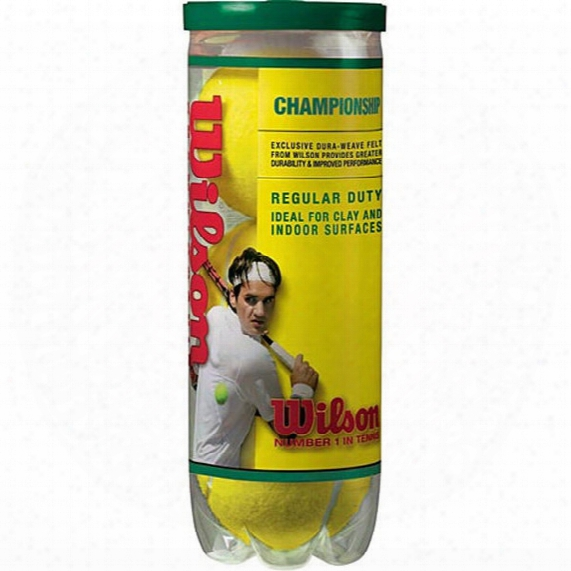 Championship Regular Duty Tennis Balls - 3-ball Can