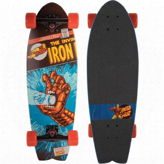 Marvel Iron Man (hand Shark) Complete Skateboard - 8.8in X 27.7in