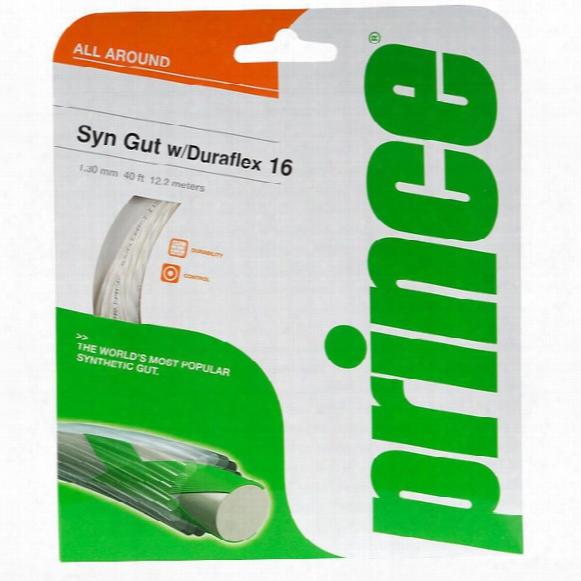 Syn Gut With Duraflex Tennis String