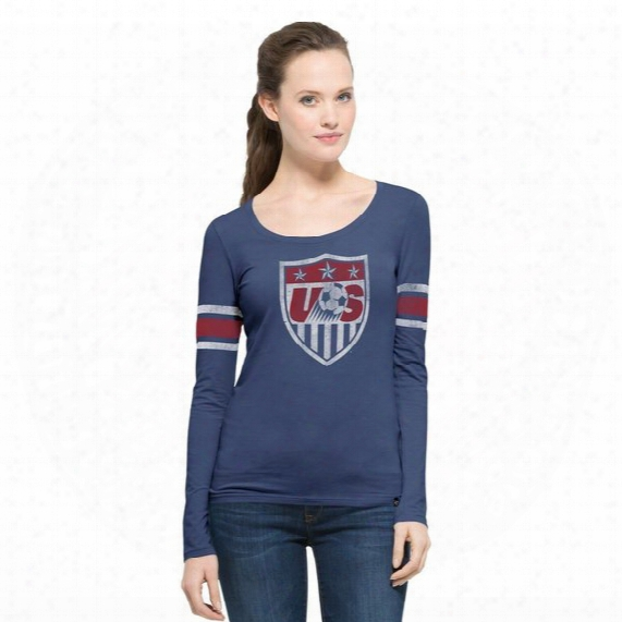 Us Soccer Homerun Long-sleeve Scoop Tee - Womens