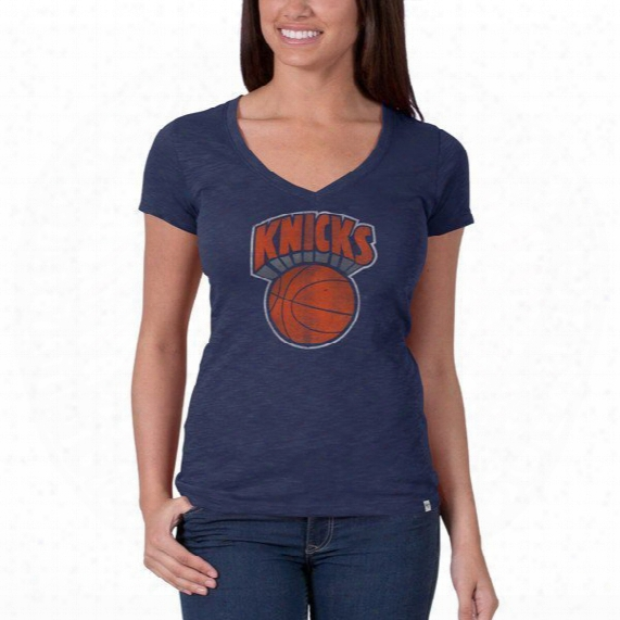 Nba New York Knicks V-neck Scrum Tee - Womens