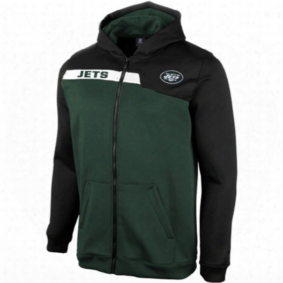 Nfl Team Apparel New York Jets Resilient Unbreakable Full Zip Hoodie - Youth