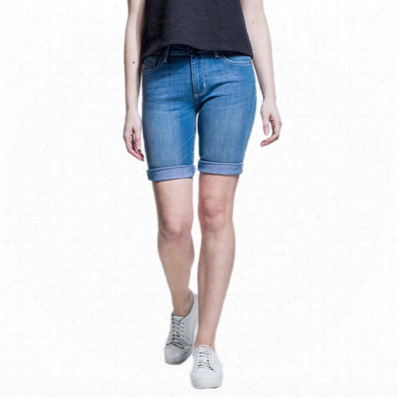 Performance Denim Commuter Short - Womens
