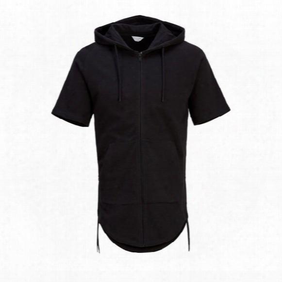 Zip Through Hooded Sweatshirt - Mens