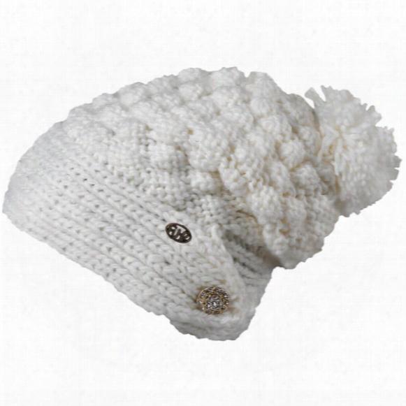 Cinta Grande Hand Knit Slouchy Pom Hat - Womens