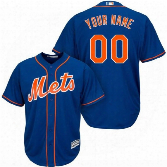 Mets Royal Cool Base Custom Jersey