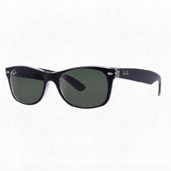 New Wayfarer Color Mix Sunglasses - Green Classic G-15 Lens