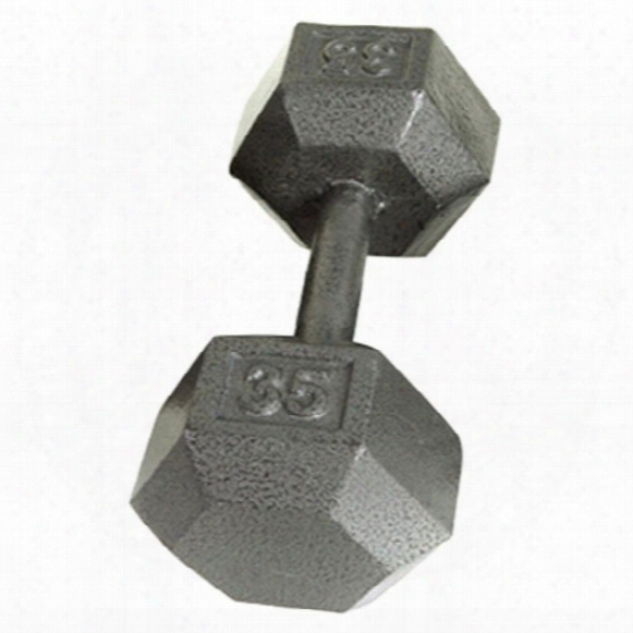 Solid Hex Dumbbell - 35 Lbs.