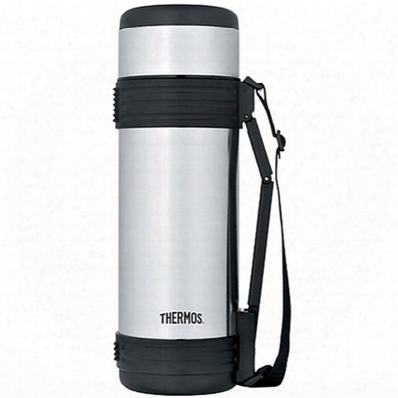 Thermos Stainless Steel Bottle With Folding Handle - 34 Oz