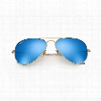 AVIATOR SUNGLASSES – BLUE FLASH LENS