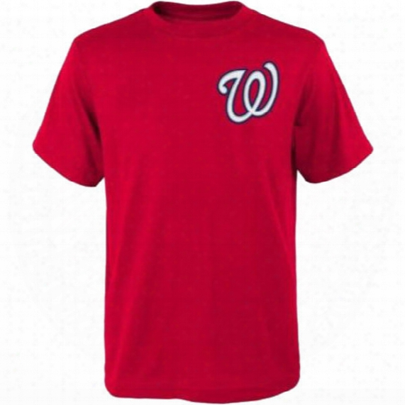 Washington Nationals Bryce Harper #34 Red T-shirt - Youth