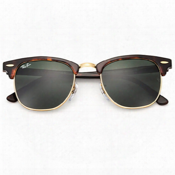 Clubmaster Classic Sunglasses � Green Lens