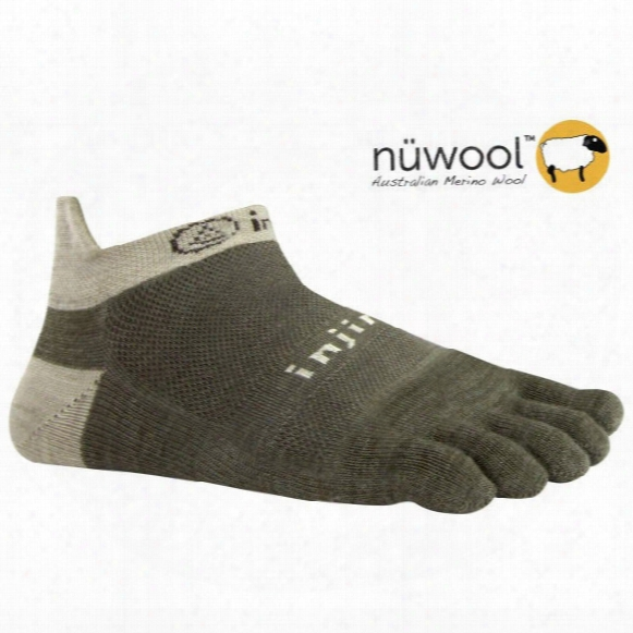 Run Lightweight No-show Oatmeal Nuwool Socks