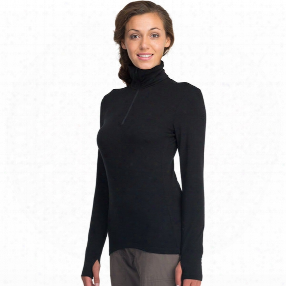 Tech Top Long Sleeve Hal Zip Top - Womens