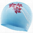 FLOWERS SILICONE SWIM CAP