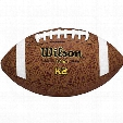 K2 COMPOSITE LEATHER FOOTBALL - PEEWEE