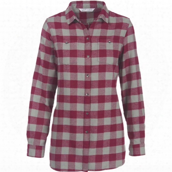 Woolrich Buffalo Check Boyfriend Tunic Flannel Shirt - Womens