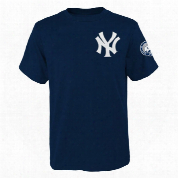 Yankees Navy Number Retirement Day Name & Number T-shirt - Youth