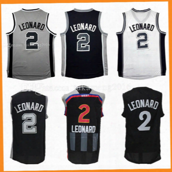 2 Kawhi Leonard Basketball Jerseys Men Adult Embroidery And 100% Stitched 2017 All Star Christmas Edition Kawhi Leonard Jersey Kid's Youth