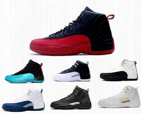 2016 Cheap Air Retro 12 Wool Xii Basketball Shoes Ovo White Flu Game Wolf Grey Gym Red Taxi Gamma French Blue Suede Sneaker