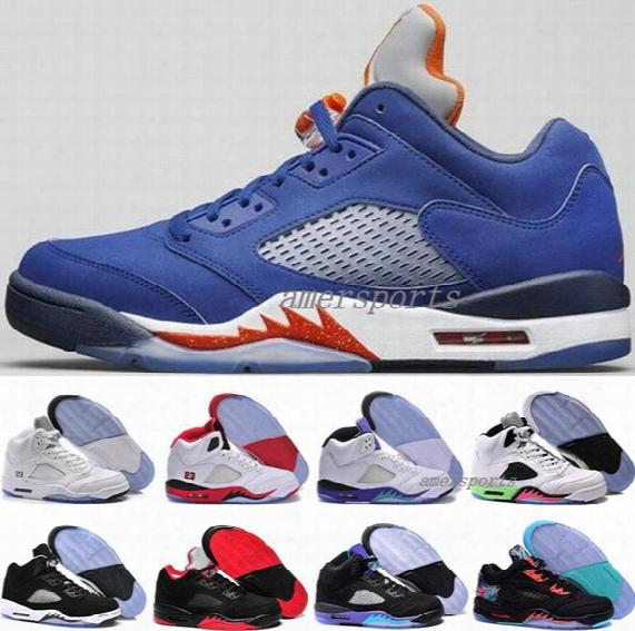 2016 Cheap Authentic Basketball Shoes Retro 5 V Sneakers Mens Air Retro5 Mens Retros Basket Ball 5s V Shoes Men Us 8 8.5 9.5 10 11 12 13