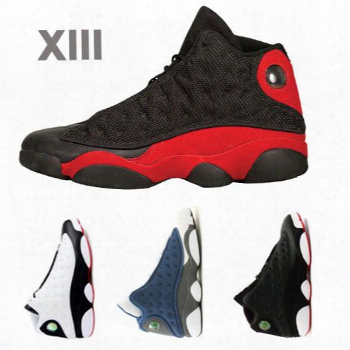 2016 Hot Sale Retro 13 Hologram 13s Mens Basketball Shoes Black Cat Game Gs Gradeschool Dirty Bred Bg Black White Wolf Grey Toe