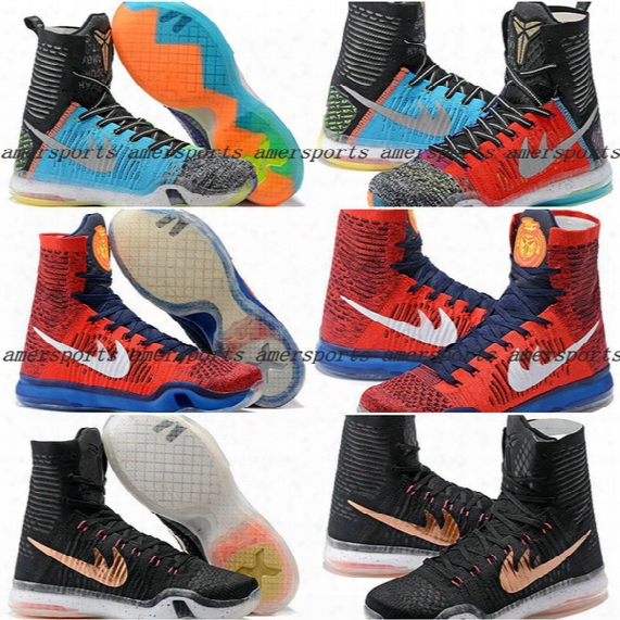 2016 New Kobe X Basketball Shoes Elite What The For Sale Men Retro 10 Sneakers High Cut Weaving Sports Shoes Cheap On Sale Basketball Shoes
