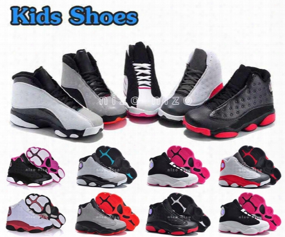 2016 New Retro 13 Kids Shoes Children J13s Basketball Shoes High Quality Sports Shoes Youth Sneakers For Sale Size: Us11c-3y Eu28-35