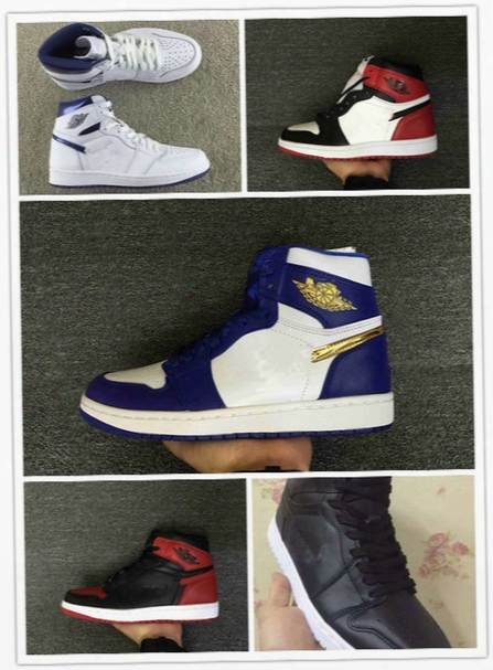 2016 Newest Air 1 Retro 1 I High Coin Gold Medal Blue White Men Basketball Shoes Mens Sports Shoes Trainers Sneakers Wholesale 7-13