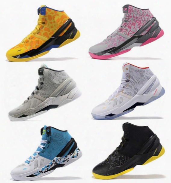 2016 Newest Curry 2 Mens Basketball Shoes Sneakers Retro Signature Stephen Curry Trainer Curry 2s Basket Ball Shoe Sports Boots Size 7-12