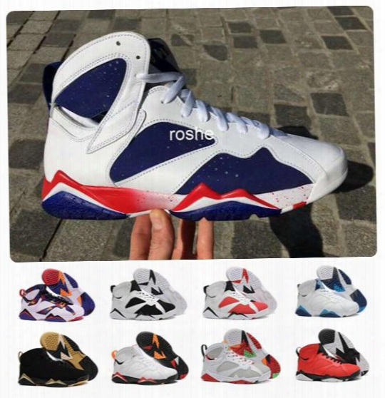 2016 Newest Retro 7 Tinker Alternate Olympic Mens Basketball Shoes Athletic Sport Sneakers 7s Vii Retro Shoes Eur Size 41-47 Free Shipping