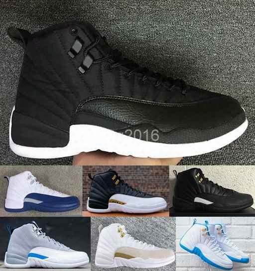 2016 Retro 12 Xii Basketball Shoes For Women Men,high Quality Ovo Wings Taxi Playoffs Gamma Blue Black Sport Retros 12s Sneakers Shoe
