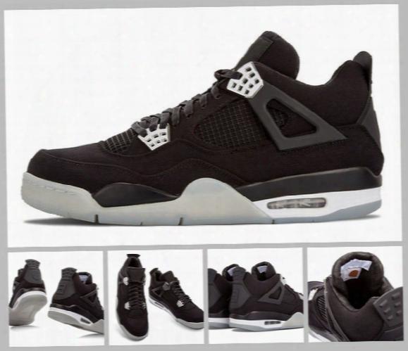 2017 Air Retro 4 Iv Eminem Basketball Shoes For Men Black Denim Undefeated Encore Blue Olive Green Mens Version Wholesale 41-47