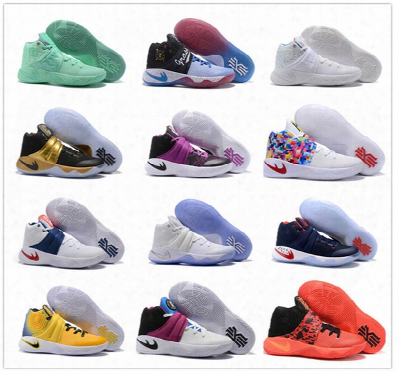 2017 Cheap Sale Kyrie Irving Mens Basketball Shoes 2 Sports Training Sneakers Size 40-46 Free Shipping