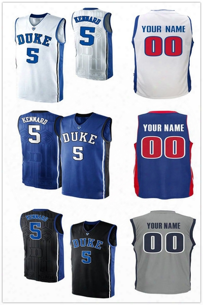 2017 Draft Picks #5 Luke Kennard Basketball Jerseys Blue Gray White Uniform College Luke Kennard Jersey 100% Stitched Embroidered Logo