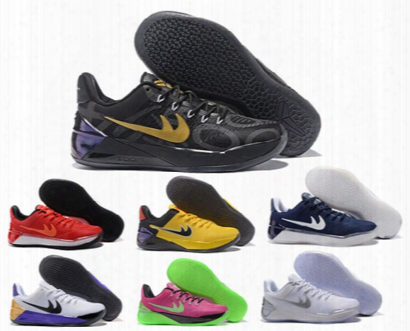 2017 Kobe 12 Xii Ad Black Gold Men Basketball Shoes Cheap Purple Red White Gray Blue Kobe 12s Elite Low Sport Sneakers