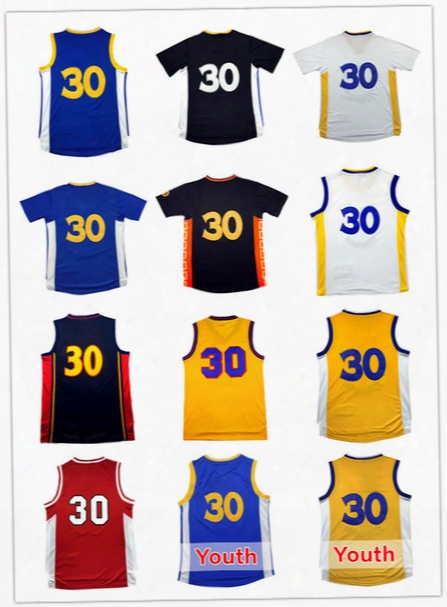 2017 Men Stephen Curry#30 Basketball Jerseys Youth Kid Curry 30 Jersey Cheap Wholesale High Quality Embroidery Logos Free Shipping