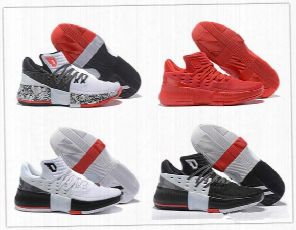 2017 New Arrival Damian Lillard 3 Boost Basketball Shoes For High Quality Iii Training Sports Sneakers Free Shipping Size 40-46
