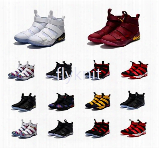 2017 New Arrival James Xi Soldiers 11 Limited Edition Chameleon Men's Basketball Shoes For Top Quality Cheap Sale Sports Sneakers Size 40-46