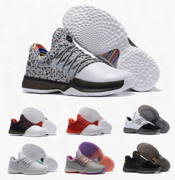 2017 New Harden Vol. 1 Basketball Shoes Men High Quality James Harden Shoes Sneakers Athletic Shoes Size 7-12 Free Shipping