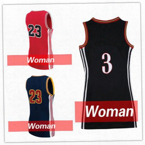 2017 New Women Stitched Printing Michael 23 Basketball Jersey Women Kawhi Leonard 2 Cheap Dwyane Wade 3 Women 35 Kevin Durant Free Shipping