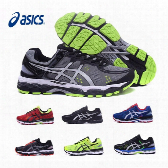 2017 Original New Asics Gel-kayano 22 Wholesale Running Shoes Men Black Gray Green Blue Basketball Shoes Boots Sport Sneakers Size 40.5-45