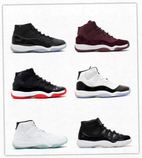 2017 Retro 11 Basketball Shoes Bred Legend Blue Concord Space Jam Men Women Athletic Sport Sneakers Gamma Blue Xi Outdoor Shoes With Box