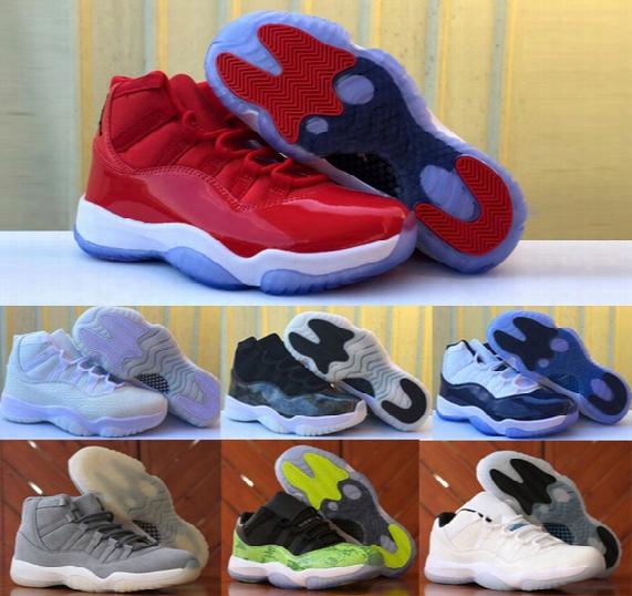 2017 Retro 11 Men Women Basketball Shoes Retro 11s Xi Low Royal Blue Black Citrus Concord Bred Georgetow Space Jam Gs Sport Sneakers