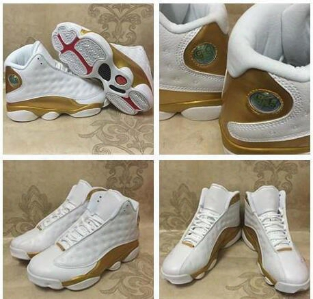 2017 Retro 13 Basketball Shoes White Gold 1998 13/14 Dmp Pack Sport Shoes Sports Training Sneakers Athletics Sneakers Girl Big Boy Shoes 4-7