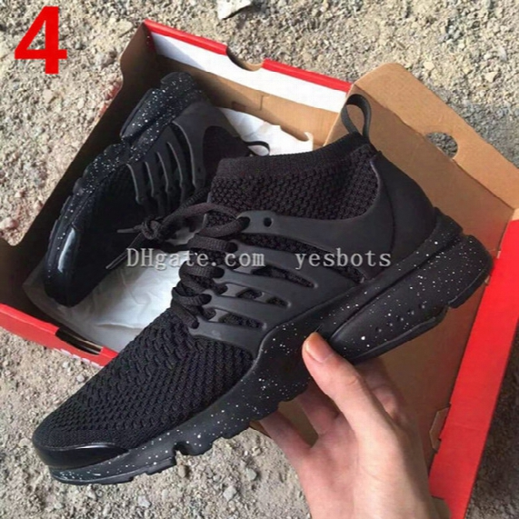 2017 Top Air Presto Br Qs Breathe Black White Mens Basketball Shoes Sneakers Women Running Shoes For Men Sports Shoe,walking Designer Shoes