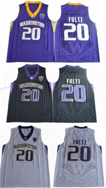 2017 Washington Huskies Markelle Fultz College Basketball Jersey Cheap #20 Markelle Fultz Black White Purple Shirts University Jerseys Mens