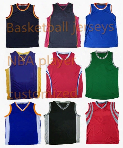 A+++ Basketball Stitched Game Jersey Custom Players Mens Embroidered Premier Jersey Classic Throwback Jersey Rev 30 Team