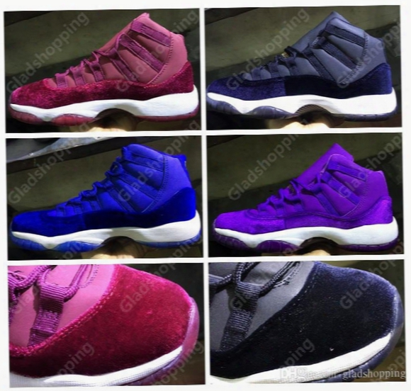 Air Retro 11 Velvet Heiress Red Black Blue Purple Mens Womens Basketball Shoes Sneakers Discount 11s Women Mens Basketball Sports Shoes