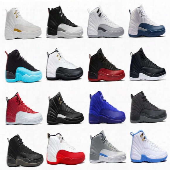 Air Retro 12 Men Basketball Shoes Ovo White The Master Gs Barons Wolf Grey  Flu Game Taxi Playoff French Blue Gym Red Sneakers